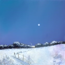 Winter Moon by Barry Hilton -  sized 24x24 inches. Available from Whitewall Galleries